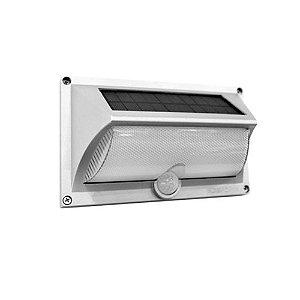 Luminária Solar Arandela ABS com Sensor de Presença LED Branco Quente 3000k