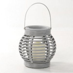 Lanterna Decorativa Cesto com Vela LED