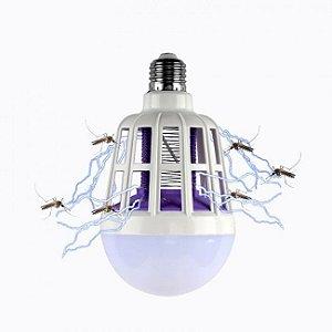 Lâmpada LED 15W Repelente Anti Insetos Mata Mosquitos 2 em 1 Bivolt