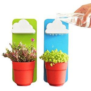 Vaso de Plantas Decorativo com Suporte de Parede Jardim Flores na Chuva