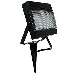 Refletor Holofote Luminária Solar com Espeto de Jardim LED 2W Placa Completo Ecoforce