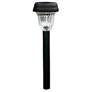 Luminária Solar de Jardim Poste Balizador ABS LED Branco Frio 6000K