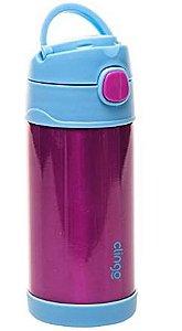Garrafa Térmica com Canudo de Silicone Pink 270ml - Clingo