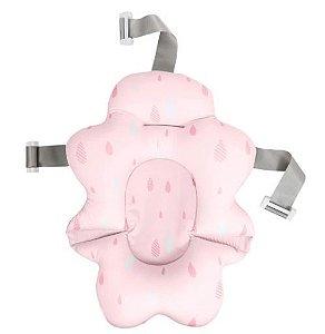 Almofada para Banho Com Fivela Ajustável Rosa - Buba