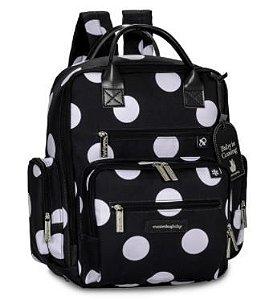 Mochila Maternidade Urban Bubbles Black and White - Masterbag