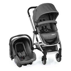 Kit Passeio Carrinho de Bebê, Bebê Conforto e Base Isofix EPIC LITE TS TRIO Grey Classic - Infanti