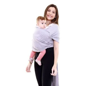 Sling WRAP Cinza Mescla 3,5 a 16 kg - KaBaby