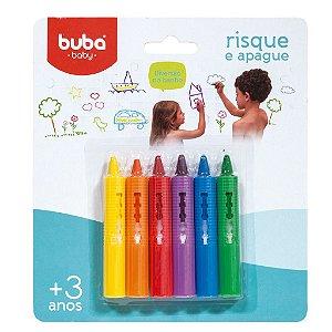 Brinquedo de Banho Lápis Lavável RISQUE E APAGUE 6 unidades +3 Anos - Buba