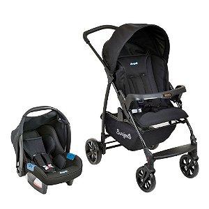 Kit Passeio Carrinho de Bebê e Bebê Conforto CONJUNTO ECCO Preto - Burigotto