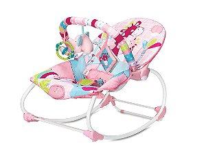Cadeira de Descanso e Balanço Rocker 18kg Girafa Pink Mastela