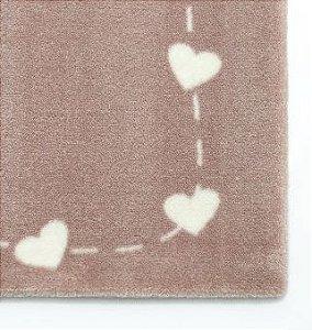 Tapete Infantil Alto Padrão Coleção Doce Amor Corações 70cm x 130cm- Moriah