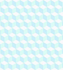 Papel de Parede Coleção Brincar Geométrico Azul e Verde - Bobinex