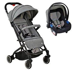 Carrinho de Bebê Travel System ZAP Com Bebê Conforto Touring X Gray - Burigotto