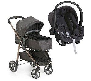 Carrinho de Bebê Travel System Olympus com Bebê Conforto Cocoon Preto - Galzerano
