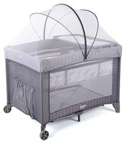 Berço Desmontável Portátil Sereno Grey Hail - Infanti