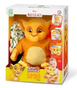 Boneco Simba Baby Rei Leão - Roma