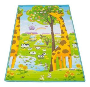 Tapete de Atividades Infantil Dupla Face Dobrável Girafa 120cm x 180cm x 0,5cm - Ibimboo