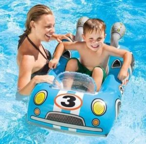 Bóia Bote Infantil Inflável Cruisers Carro 3-6 Anos - Intex