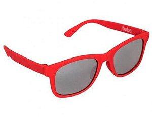 Óculos de Sol Infantil com Armação Flexível Vermelho - Buba