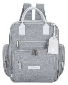 Mochila Maternidade Urban Moleton Cinza - Masterbag
