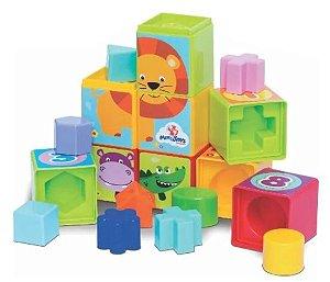 Brinquedo Didático Cubinhos 5 em 1 - Mercotoys