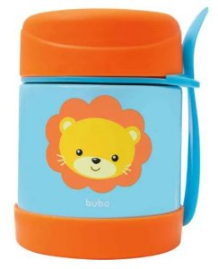 Pote Térmico Animal Fun Leão INOX 320ml - Buba