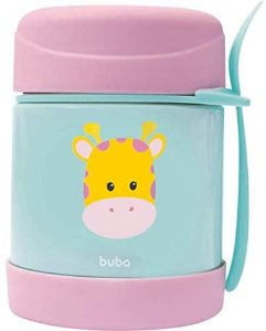 Pote Térmico Animal Fun Girafa INOX 320ml - Buba