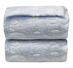Manta Nuvens Relevo Azul - Laço Bebê
