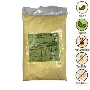 Farinha de Milho Moida na Pedra Orgânica Vale Ecológico (1kg)