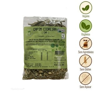Chá de Capim Cidreira Orgânico Vale Ecológico (20g)
