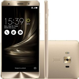 """SMARTPHONE ASUS ZENFONE 3 DELUXE ZS550KL 4RAM 64GB TELA 5.5"""" LTE DUAL DOURADO"""