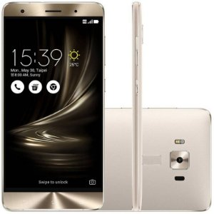 "SMARTPHONE ASUS ZENFONE 3 DELUXE ZS550KL 4RAM 64GB TELA 5.5"" LTE DUAL PRATA"