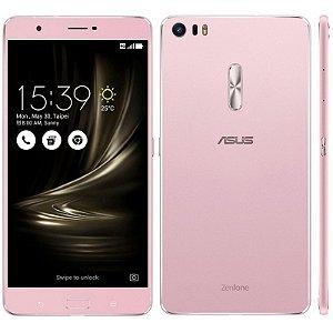 """SMARTPHONE ASUS ZENFONE 3 ULTRA ZU680KL 4RAM 64GB TELA 6.8"""" LTE DUAL ROSE GOLD"""