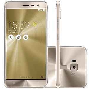 "SMARTPHONE ASUS ZENFONE 3 ZE520KL 2RAM 16GB TELA 5.2"" LTE DUAL DOURADO"