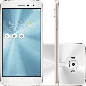 """SMARTPHONE ASUS ZENFONE 3 ZE520KL 3RAM 32GB TELA 5.2"""" LTE DUAL BRANCO"""