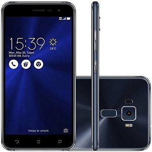 "SMARTPHONE ASUS ZENFONE 3 ZE520KL 3RAM 32GB TELA 5.2"" LTE DUAL PRETO"