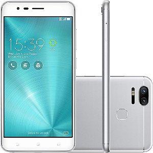 "SMARTPHONE ASUS ZENFONE 3 ZOOM ZE553KL 4RAM 64GB TELA 5.5"" LTE DUAL PRATA"