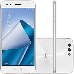"""SMARTPHONE ASUS ZENFONE 4 ZE554KL 3RAM 32GB TELA 5.5"""" LTE DUAL BRANCO"""