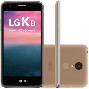 "SMARTPHONE LG K8 X240 1.5RAM 16GB 4GB TELA 5.0"" LTE DUAL DOURADO"