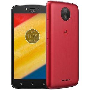 "SMARTPHONE MOTOROLA MOTO C PLUS XT1724 1RAM 16GB TELA 5.0"" LTE DUAL VERMELHO"