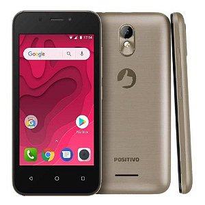 "SMARTPHONE POSITIVO TWIST MINI S431 512MB RAM 8GB TELA 4.0"" 3G DUAL DOURADO"