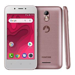 "SMARTPHONE POSITIVO TWIST MINI S431 512MB RAM 8GB TELA 4.0"" 3G DUAL ROSA"