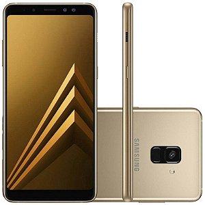 """SMARTPHONE SAMSUNG A8+ PLUS SM-A730F 4RAM 64GB TELA 6.0"""" LTE DUAL DOURADO"""