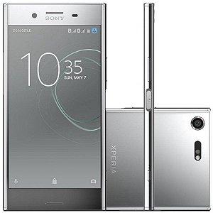 "SMARTPHONE SONY XPERIA XZ PREMIUM G8142 4RAM 64GB TELA 5.5"" LTE DUAL PRATA"