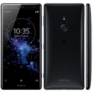 "SMARTPHONE SONY XPERIA XZ2 H8216 4RAM 64GB TELA 5.7"" LTE SINGLE PRETO"