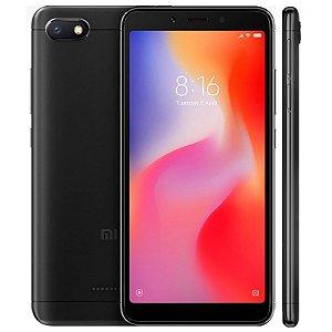 """SMARTPHONE XIAOMI REDMI 6A 2RAM 16GB TELA 5.45"""" LTE DUAL GLOBAL PRETO"""