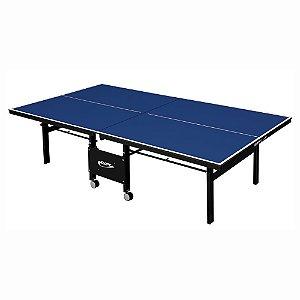 Mesa de Tênis de Mesa / Ping Pong Klopf 1084 com Rodízios MDF 18mm PAREDÃO