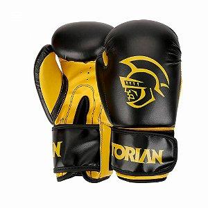 Luva de Boxe / Muay Thai Pretorian First 14 OZ Preta e Amarela