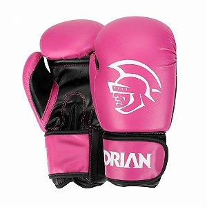Luva de Boxe / Muay Thai Pretorian First 10 OZ Rosa e Preta