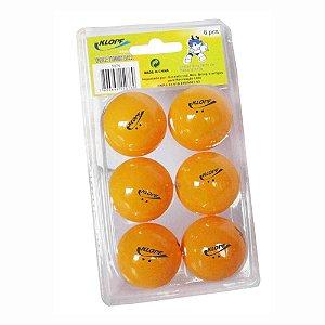 Blister com 6 Bolas Laranjas de Tênis de Mesa / Ping Pong Klopf 5076